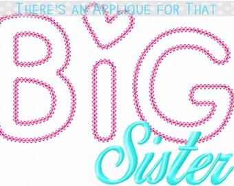 Big Sister Applique Design