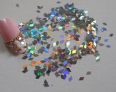 GD24-1 20g/bag Laser Silver Diamond Glitter Nail art Glitter Pieces Decoration Nail art decoration