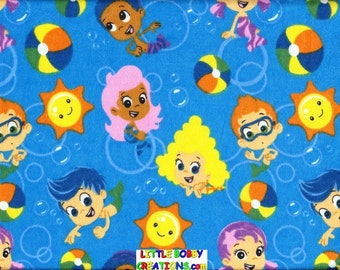 Nickelodeon Bubble Guppies Fabric Lamp Shade. You Choose the TRIM COLOR!!! (10 Sizes to Choose From)