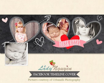 INSTANT DOWNLOAD - Valentine Facebook Timeline Cover template - F131
