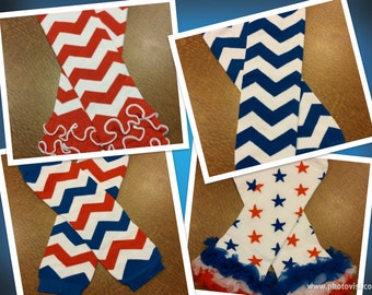 Ready to ship - 4th of July leg warmers, leg warmers, red leg warmers, red and blue leg warmers, patriotic leg warmers, star leg warmers