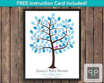 Love Bird Baby Shower Guest Book Tree, Printable Bird Guest Book Tree, Love Bird Guest Book, Love Bird Guestbook, Bird Nursery, Free Card,
