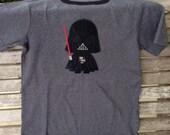 Custom Star Wars Darth Vader like appliqué t-shirt