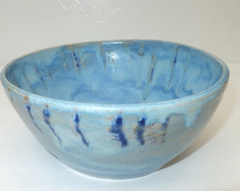 Snowy Ice Blue Crystalline Bowl