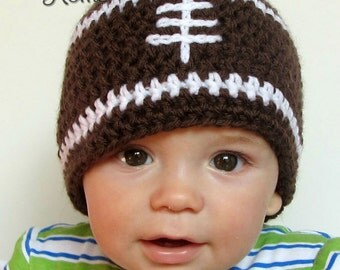 Crochet Football Beanie - All Sizes Newborn-Adult