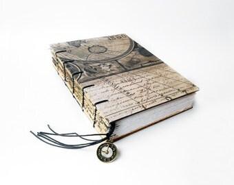 Antique world Map - Art Journal, Notebook, Sketchbook