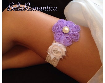 Lavender and White Garter