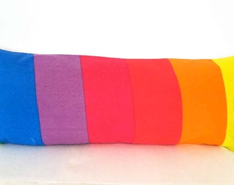 The Over the Rainbow Vintage Pillow Decorative Lumbar/ Accent/ Bolster Pillows-32 x 12: Home Decor
