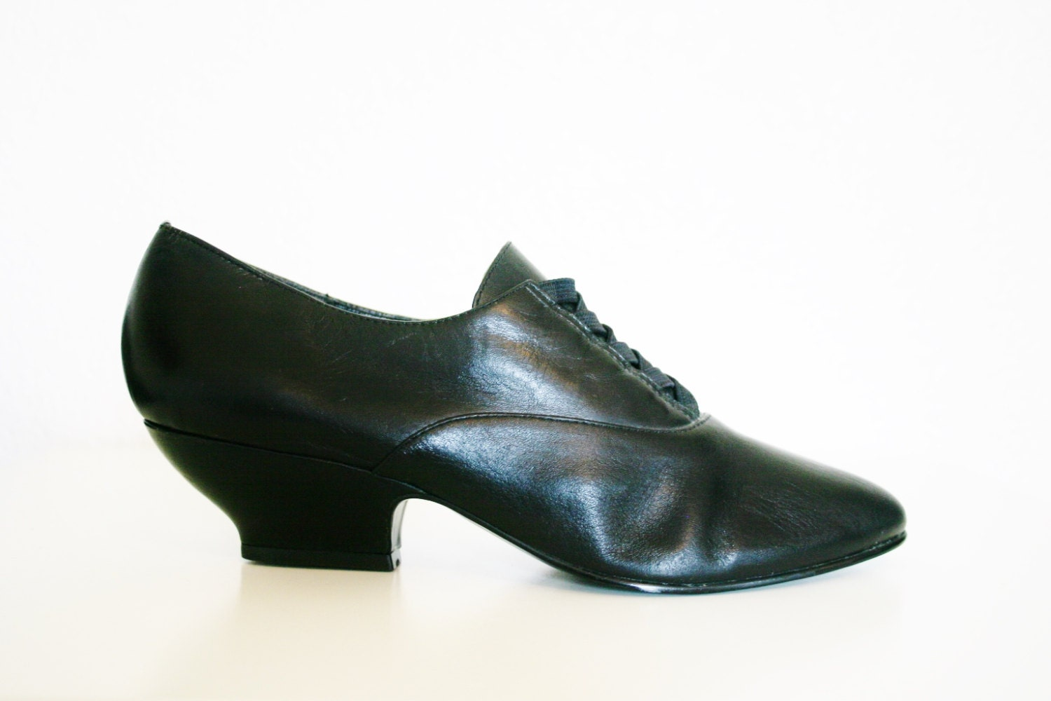 80s 90s Witchy Goth Shoes Victorian Style By