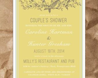 Love Bird's Wedding Shower Invitation