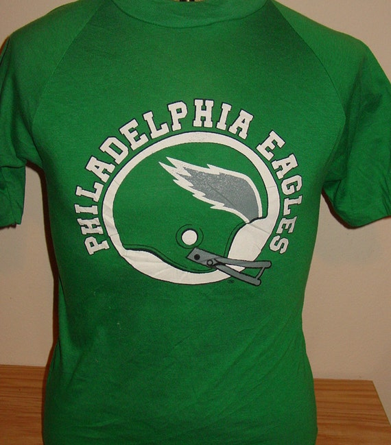 vintage 1980s philadelphia eagles football t shirt 50 50