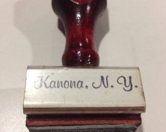 Kanona New York, kanona New York rubber stamp, Allen rubber stamp