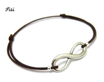 Bracelet brown infinity