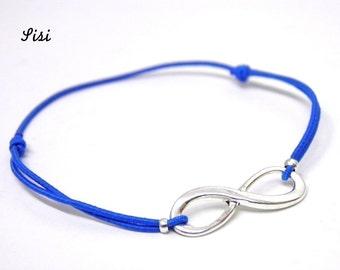 Bracelet blue infinity