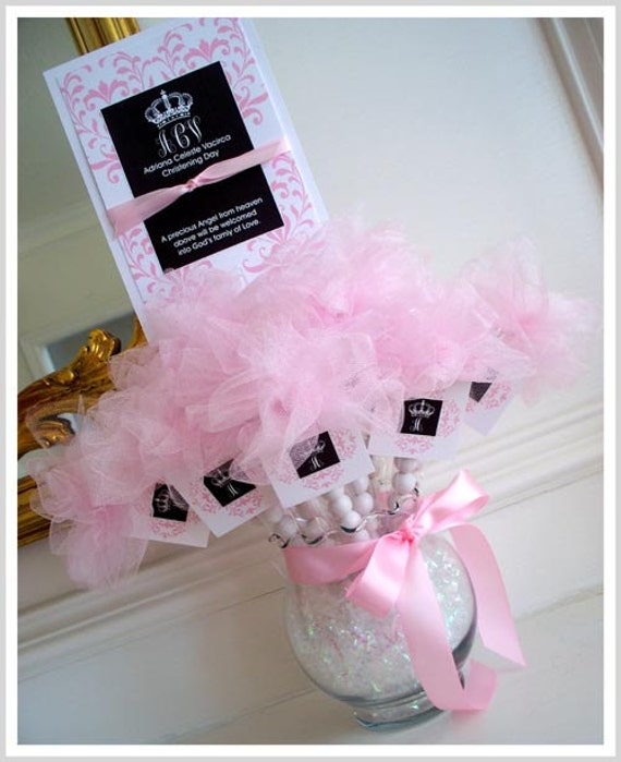Items Similar To 1 Princess Centerpiece With Tulle Pom