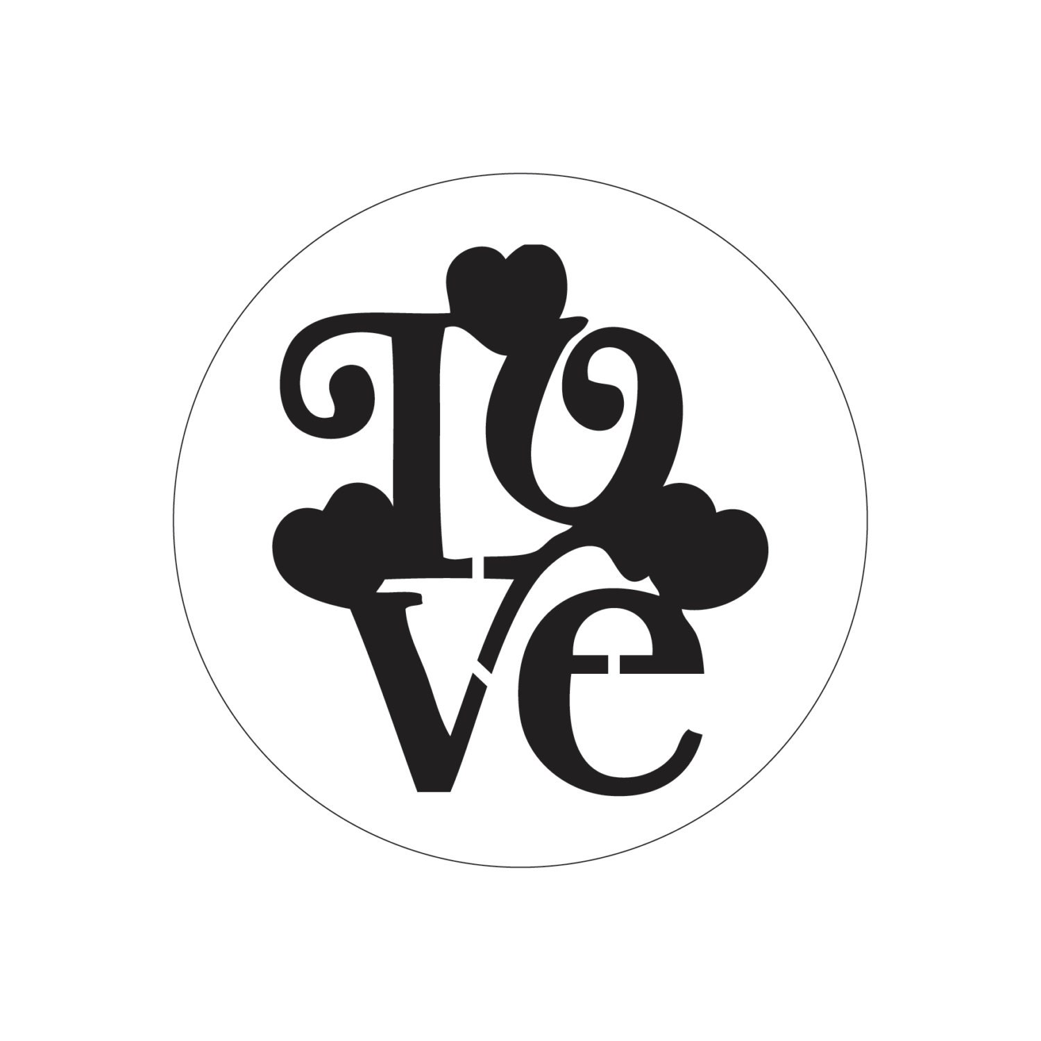 Simple Stencil Designs : Love cake stencil decoration simple and easy for