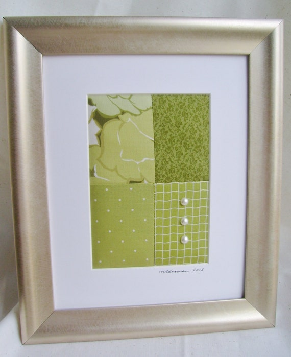 Items Similar To Was 12.00 -- Framed Fabric Collage