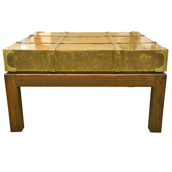 Vintage Sarreid Brass Top Coffee Table
