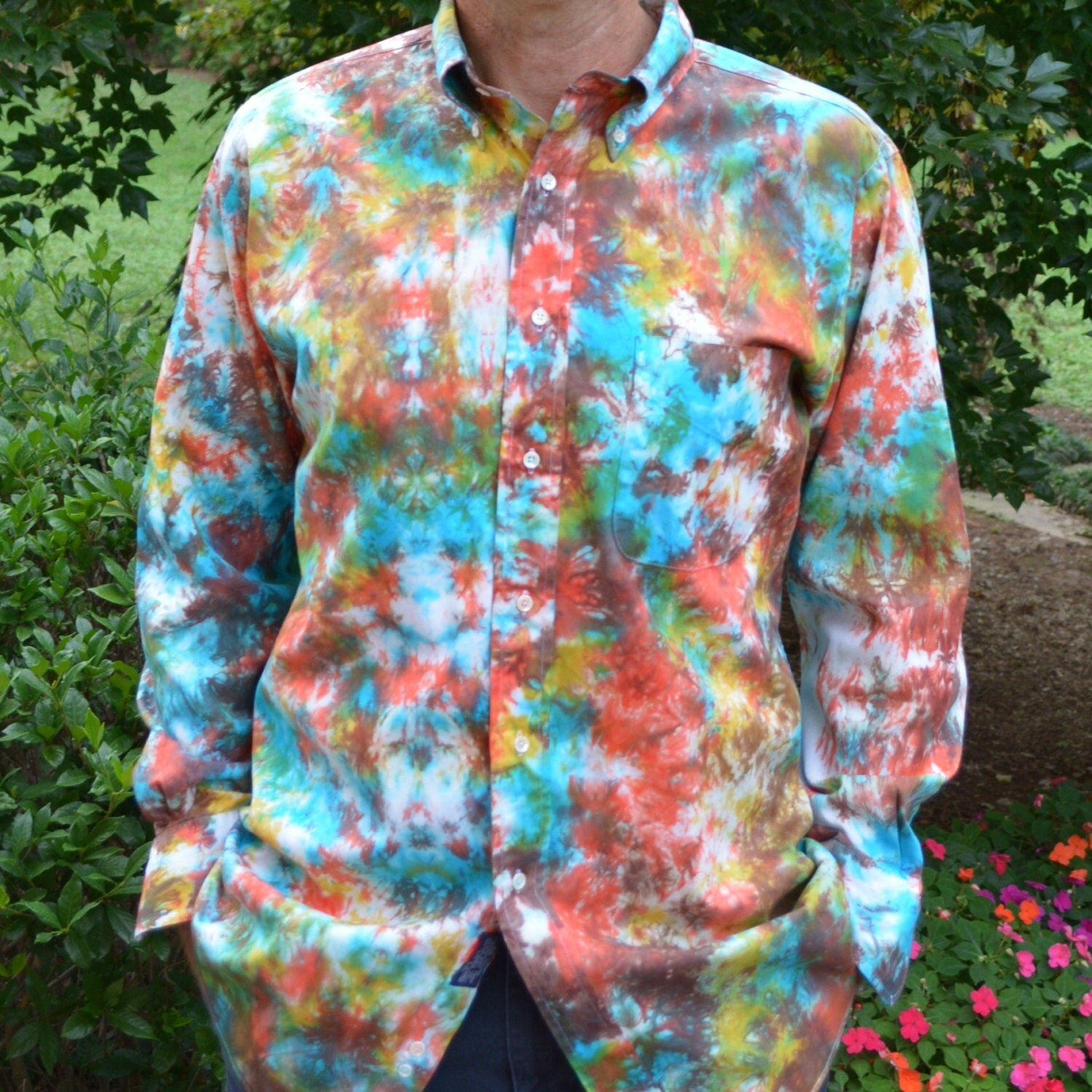 tie dye dress shirt for sonoran desert colors