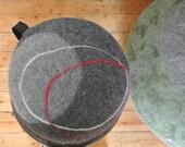 """meditation cushion KOI medium - hand felted -  merino wool - spelt husks filling 30x20cm = 11,8""""x7,9"""""""