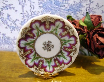 Elegant Flower Miniature Plate 1:12 scale