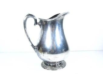 Silver water pitcher,water pitcher,jug,Henley silver,Oneida, serving,pitcher,entertaining,