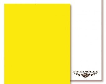 Inkedibles Premium Frosting ChromaSheets: 5 pack Letter Size (Yellow)