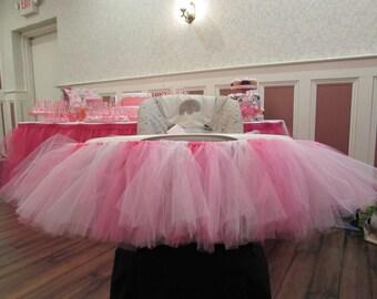 HIGHCHAIR SKIRT...Pink - Highchair Tutu Skirt...Children Birthday Party...Cakesmash...Highchair Tutu...Photography