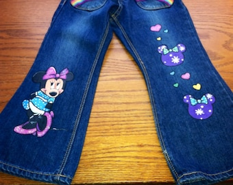 Minnie Mouse painted jeans