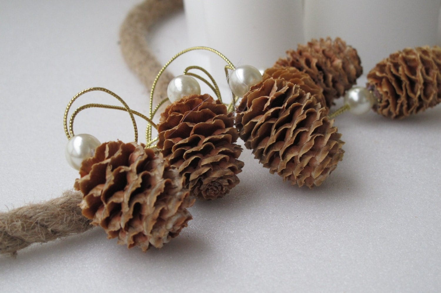 natural pine cone ornaments christmas ornaments by. Black Bedroom Furniture Sets. Home Design Ideas