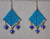 Vintage Inspired Crocheted Dangle Earrings