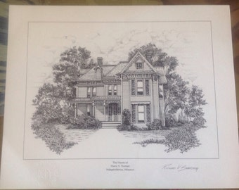 8 Presidents Homes Prints signed Certification