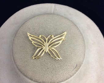 Vintage Goldotne Buttterfly Pin