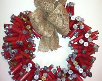 Red Shotgun Shell Wreath