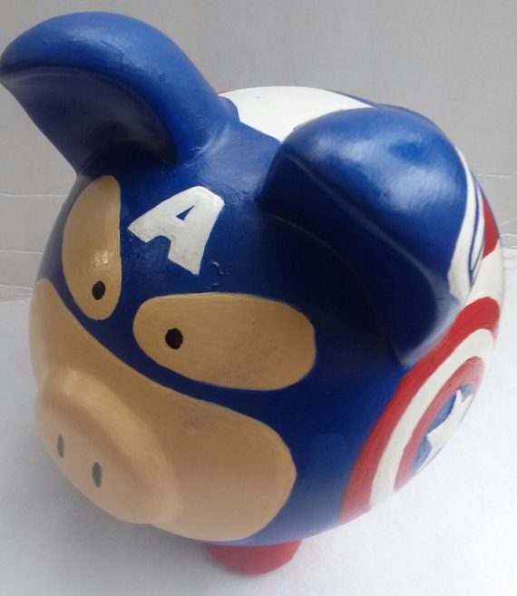 The Avengers Captain America Large Ceramic Piggy Bank By