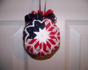 4th of July/Patriotic/Independent Day Quilted Ornament