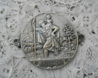 St Christopher car badge 1920's french for the collector