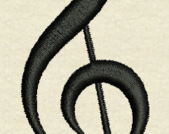 Treble Clef Embroidery Design Instant Download