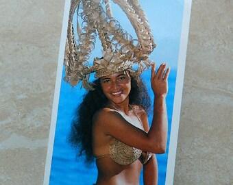 """Postcard Tahiti """"Best Wishes"""""""