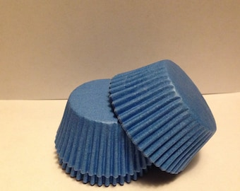 50 count - Grease Resistant Blue standard size cupcake liners/baking cups