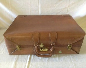 Vintage Suitcase Presto Leather Luggage Suitcase No. 62