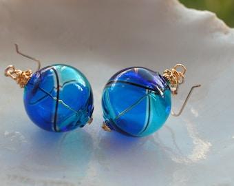 Mini Venetian Murano Blown Glass Earrings