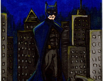 ACEO Original   Batman Artist Sketch Card in Copics