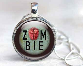 Zombie Gifts - Zombie Pendant Necklace - Gifts For Zombie Lovers - Zombie Jewellery Gifts (ZG1)