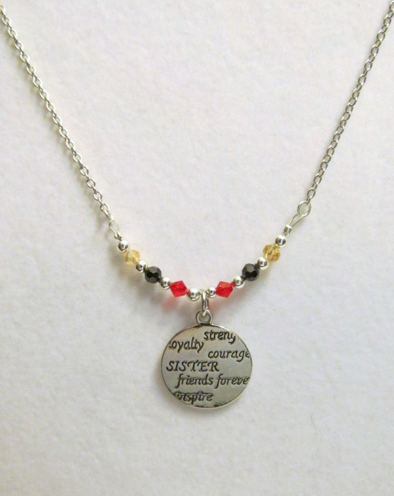 necklace strength loyalty courage by nanshandmades