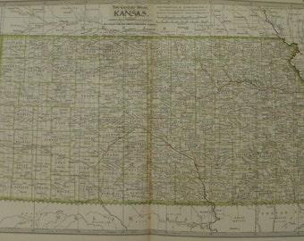 Kansas Map Wichita Kansas City Manhattan Osborne Goodland Usa State Maps United States