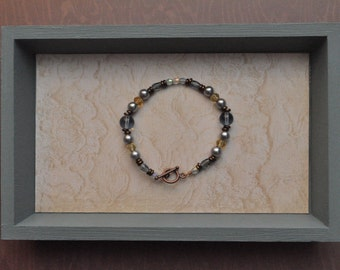 Periwinkle and Yellow Bracelet (item BC6.5-6-6)