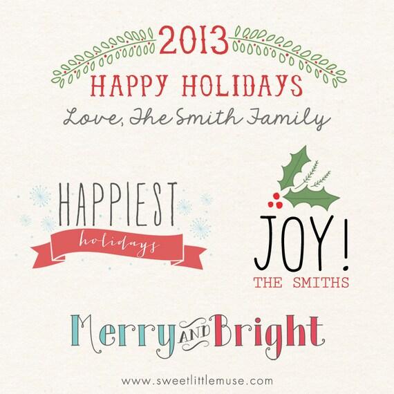 Digital Holiday Card overlays christmas overlays psd