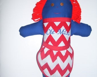 Kampus Kid.  Hand made rag doll supporting your favorite team.