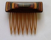 Vintage Wooden Hair Combs x2 Barrette